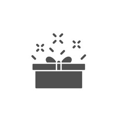 Gift box simple icon present sign vector