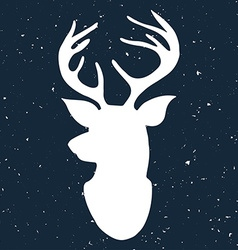 Hand drawn vintage label with a reindeer on vector image