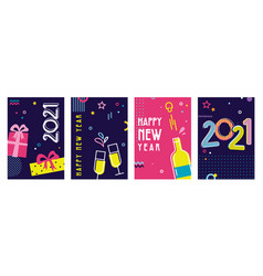 happy new year- 2021 collection greeting vector image