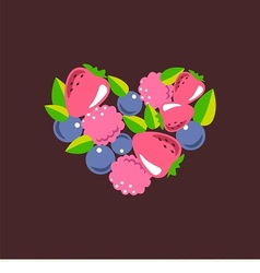 heart consists of berries vector image