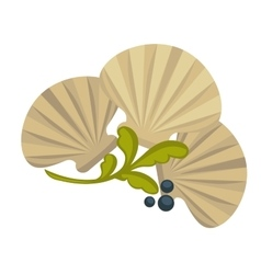 Icon of oysters sea food symbol shellfish ocean vector