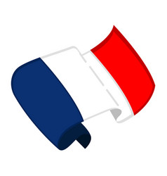 Isolated flag of france vector