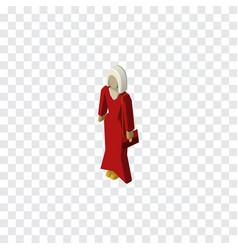 isolated woman isometric female element vector image