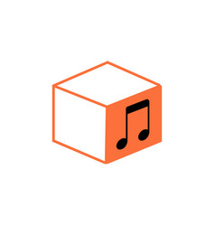 isometric melody icon vector image