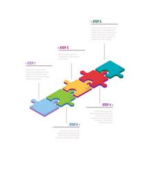 isometric puzzele concept vector image