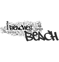 jamaican beaches text background word cloud vector image