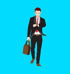 Man going to work vector