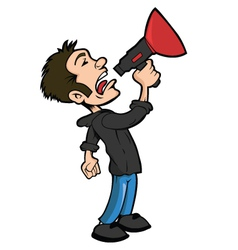 Man with a megaphone vector