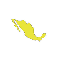 mexico map icon vector image