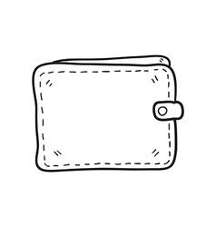 Money wallet hand drawn vector