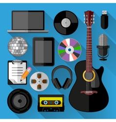 Music icons bundle vector