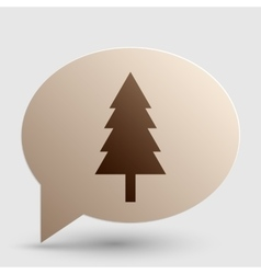 New year tree sign Brown gradient icon on bubble vector image