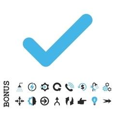 Ok flat icon with bonus vector