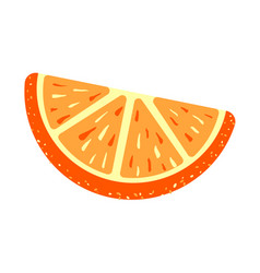 Orange sugar jelly icon cartoon style vector