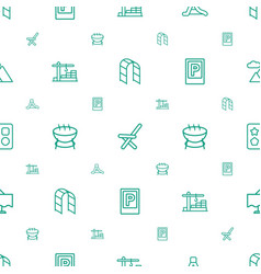 Outdoor icons pattern seamless white background vector