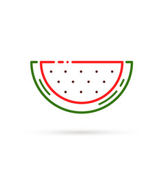 Outline watermelon color icon vector