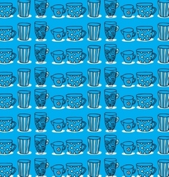 pattern of a set of mugs vector image