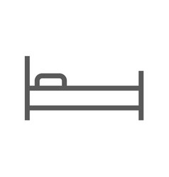 public navigation line icon bed vector image