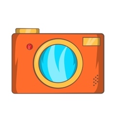 Retro photo camera icon cartoon style vector