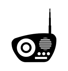 retro radio device isolated icon vector image
