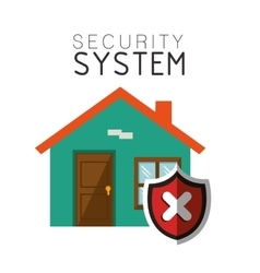 Security system house smart design vector
