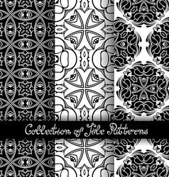 Set of 3 Seamless Vintage Patterns vector