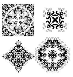 set ornate ornaments vector image