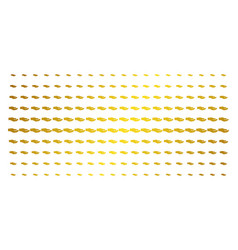 share hand golden halftone matrix vector image