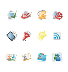 Social icon set ideal for web and print flyers vector