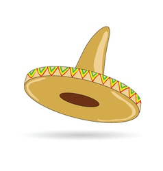 sombrero hat from mexico vector image