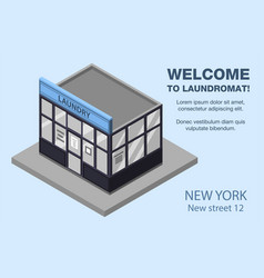 street laundry building concept background vector image