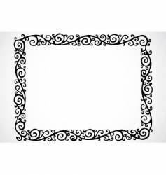 Swirl frame vector