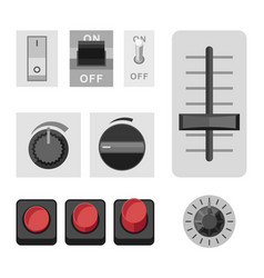 switches flat icons vector image
