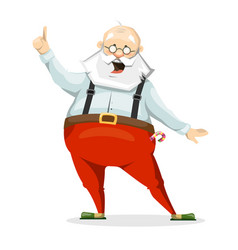 the emotional character of santa claus in slippers vector image