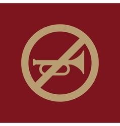 The keep quiet icon no sound symbol flat vector