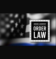 thin blue line usa flag police symbol vector image