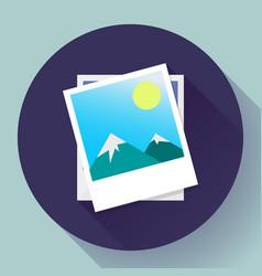 two photos icon - symbol the vector image
