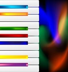 varicolored keys vector image vector image