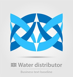 Water distributor business icon vector