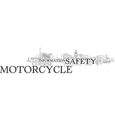 what to look for in a motorcycle safety course vector image