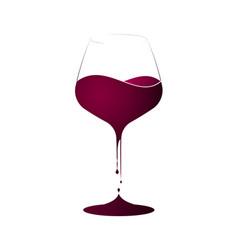 Wine shop or wine menu logo or emblem with a wine vector