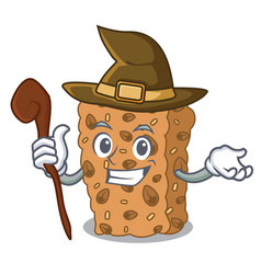 Witch granola bar mascot cartoon vector