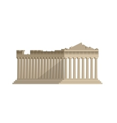 World landmark Flat design of parthenon greek vector