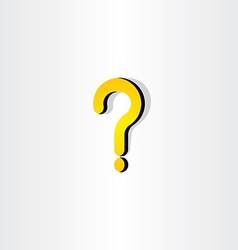 Yellow question mark icon element vector