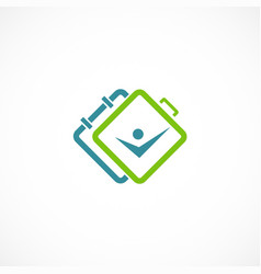 travel people bag abstract logo vector image