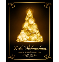 Christmas card Weihnachtskarte vector image