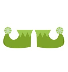 Cute stylized St patricks legs isolated on white vector image