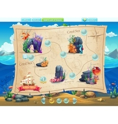 Fish world- example of selection of levels for the vector image vector image