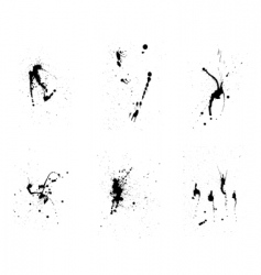 grunge background set vector image vector image