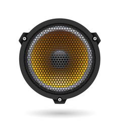 Realistic speaker on white for design vector